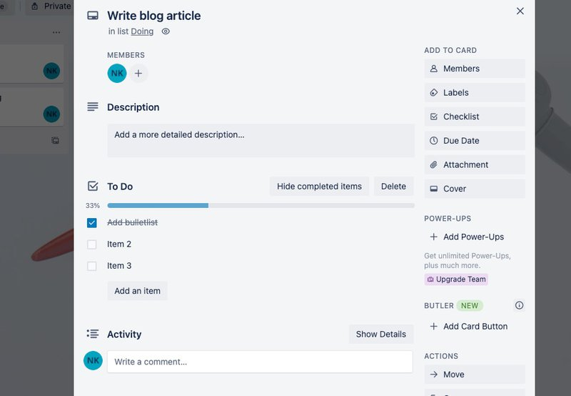 Time management with Trello