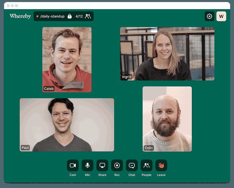Whereby - Collaborez en visioconférence avec vos équipes