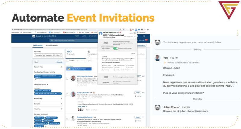 LinkedIn: automate event invitations