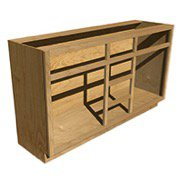A two double vanity cabinet box.