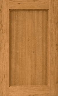 Campbell cabinet door. A square flat panel with a single step inside edge and a squared outside edge.