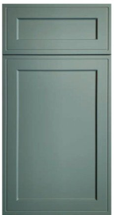 A shaker inset door and drawer front.