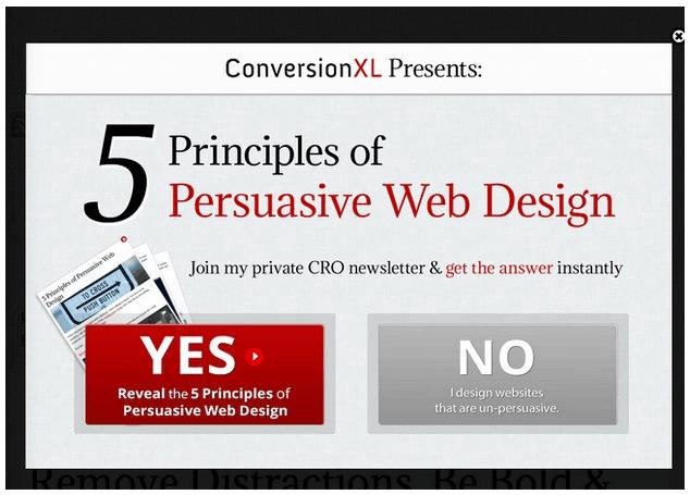persuasive popup examples