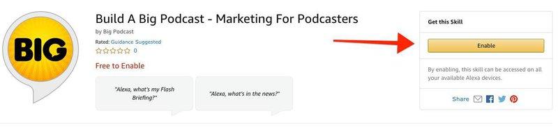 Build A Big Podcast - Amazon Alexa Skill
