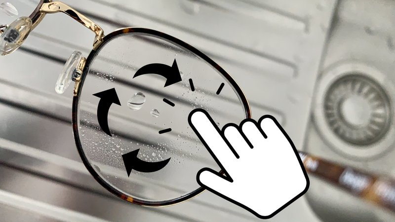 Draaibeweging met je vingers op je glazen