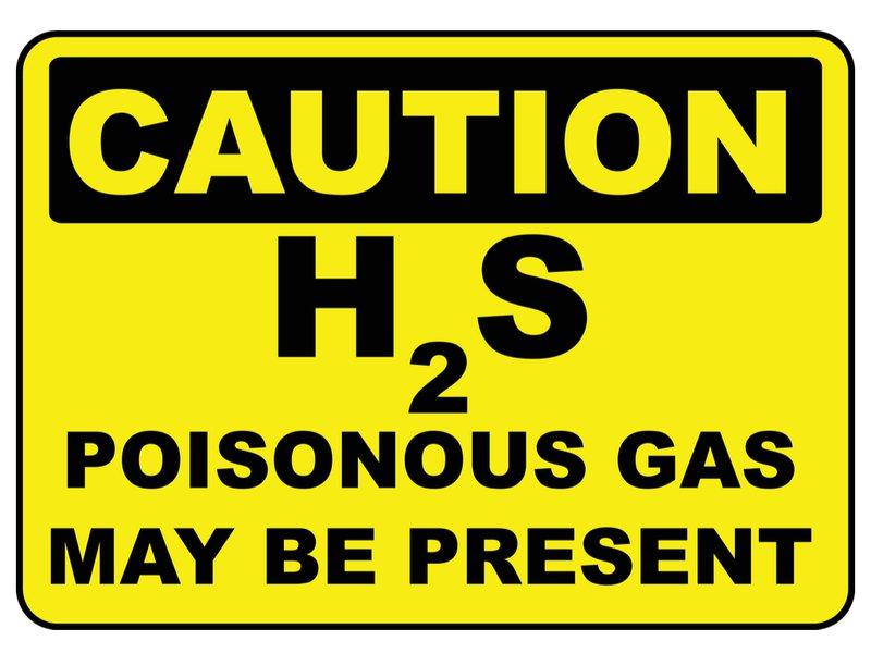 H2S komt vrij bij het ruimen van de septische put