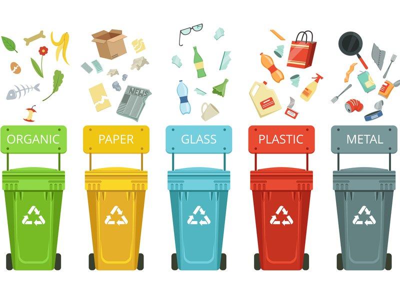 Sorteren van afval