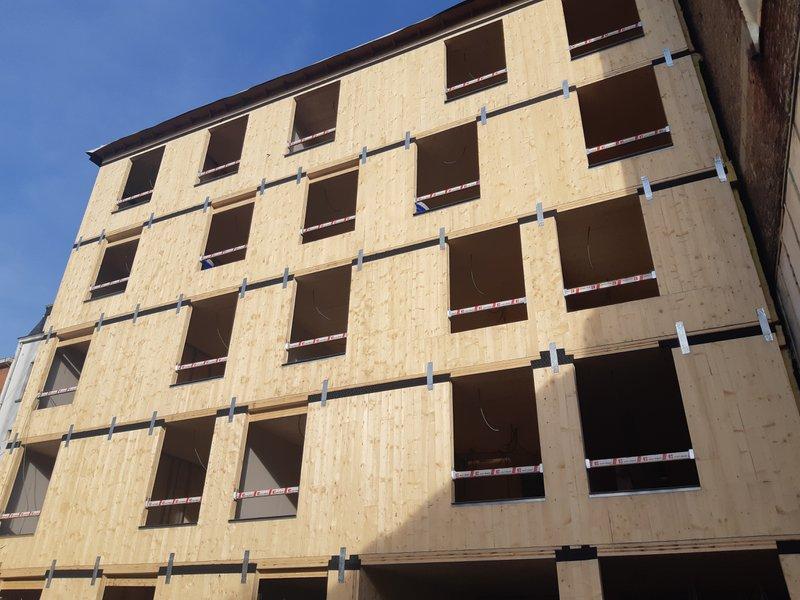 lichtgewicht structuur in hout met CLT