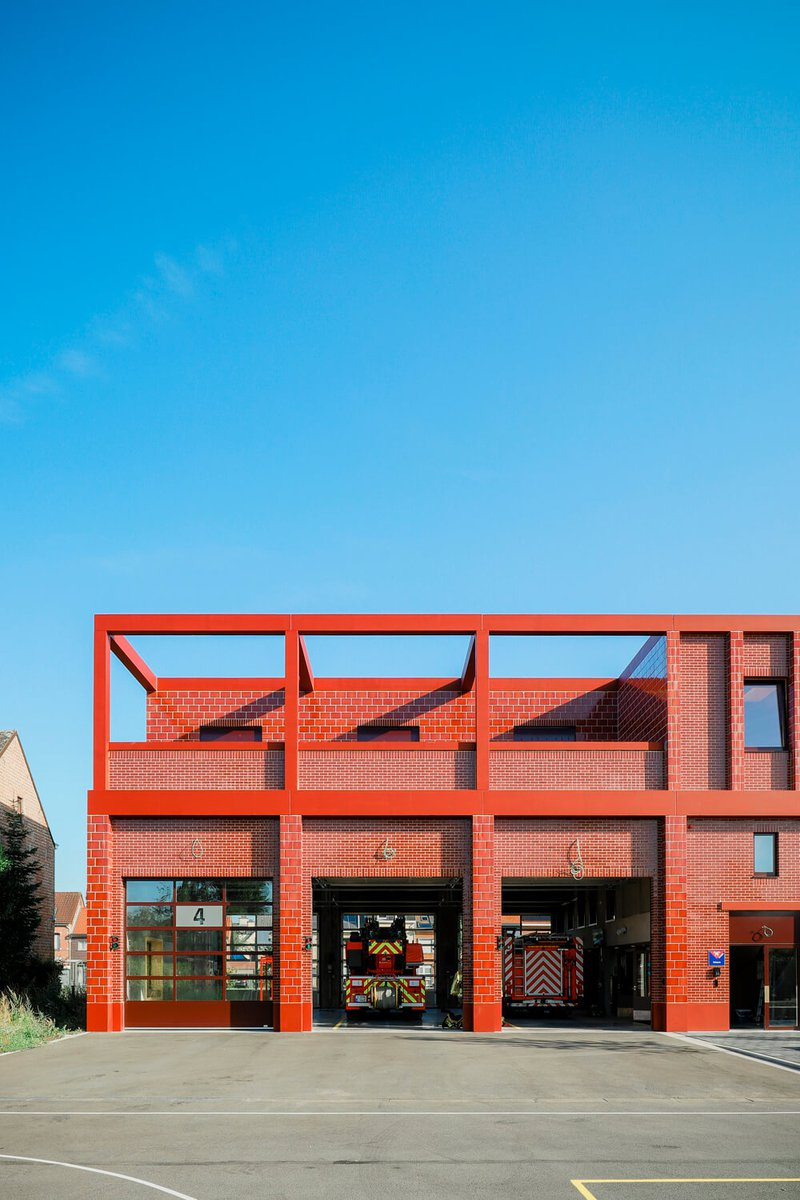 Fire station in wood - Wilrijk 3