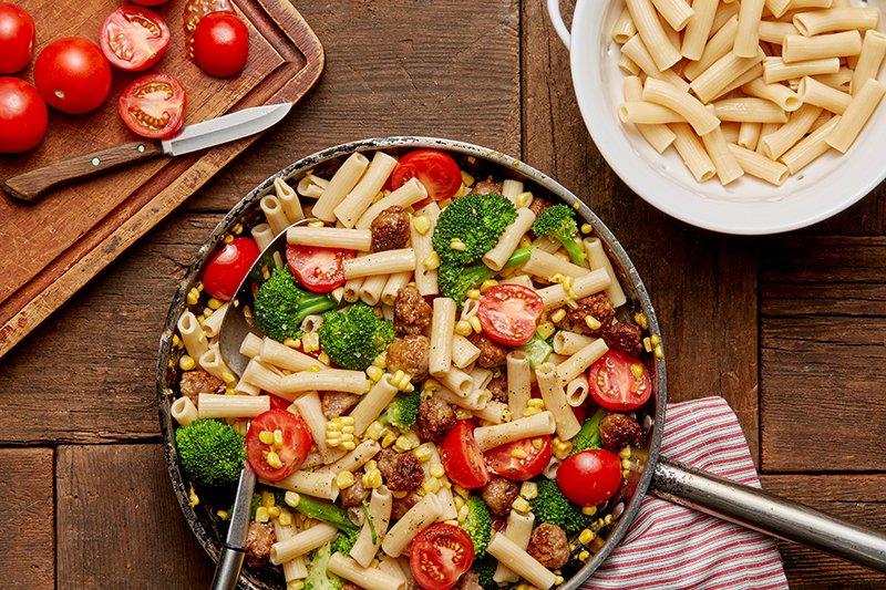 macaroni met chorizo - Mr Georges