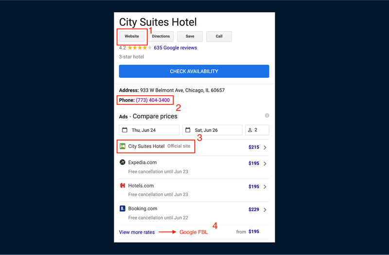 A Google Search of City Suites Hotel