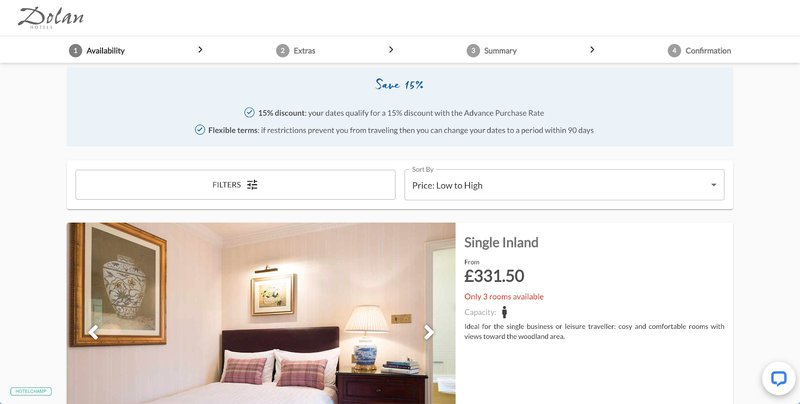 A message on Dolan Hotels website shows they have flexible terms