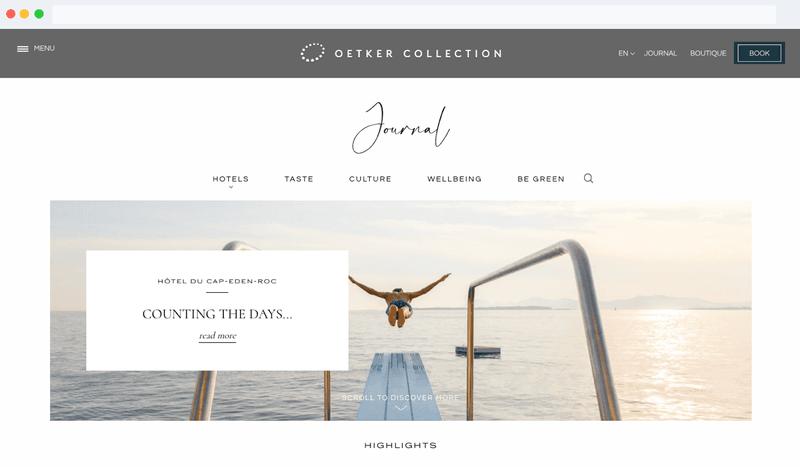 Oetker Collection Blog