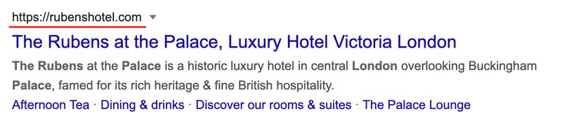 "A SEO URL for a hotel. ""https://rubenshotel.com"""