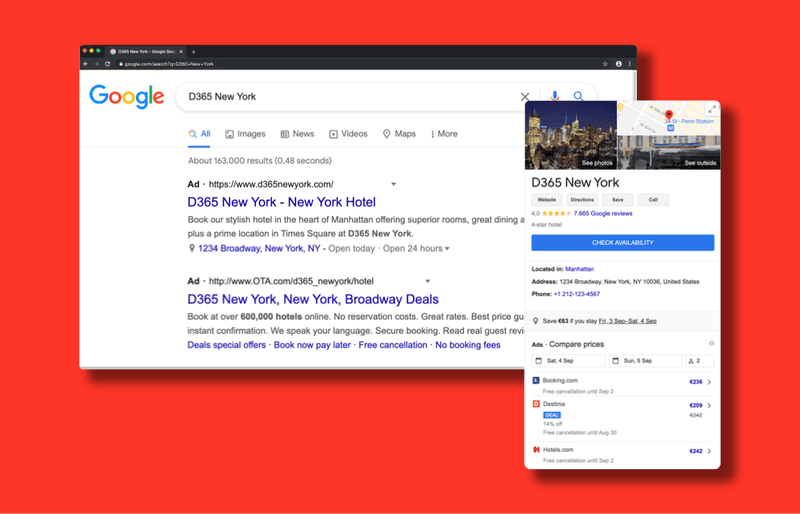 Google Ads and Google Hotel Ads