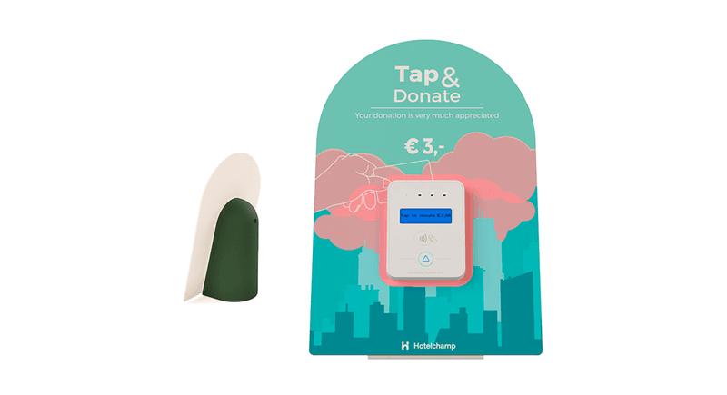 Hotelchamp's Tap to Donate hardware
