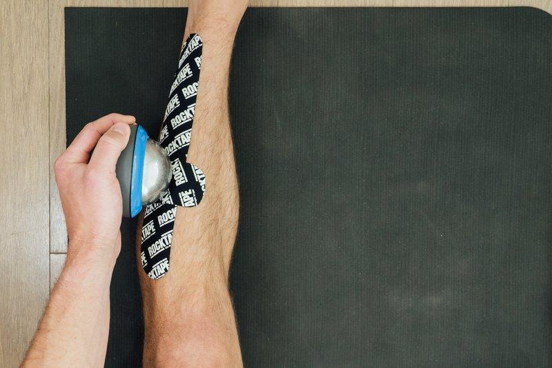 rocktape and ice massage for shin splints