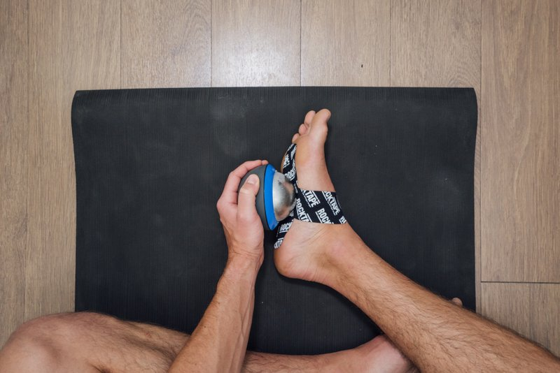 Ice massage and rocktape for plantar fasciitis