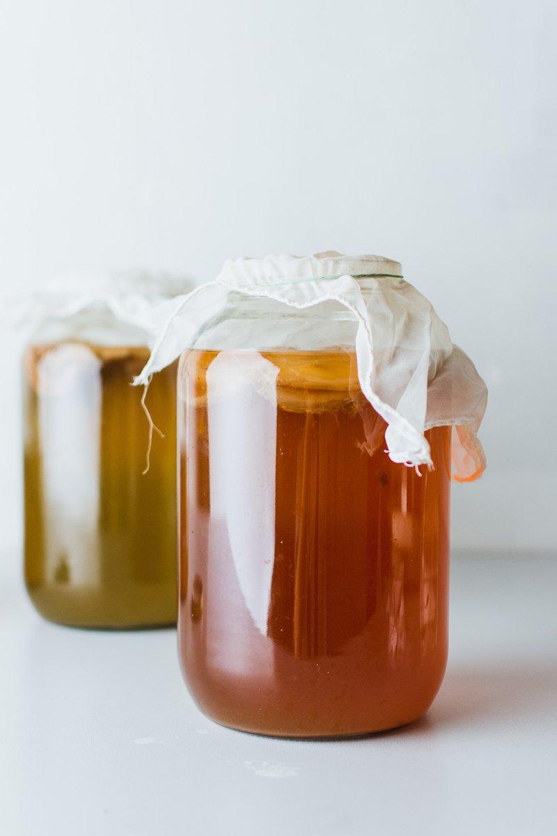 jars of kombucha