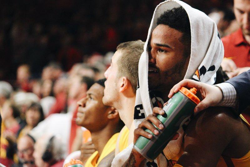 Taken during an Iowa State men's basketball game.