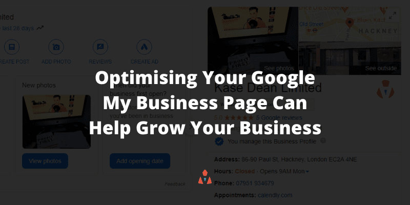 Small Business SEO Mistakes - Not Optimising Your Google My Business Page