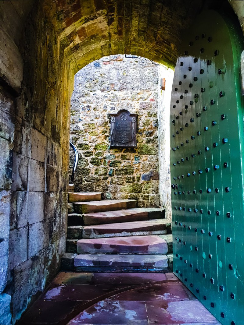 The entrance steps to Dumbarton Castle