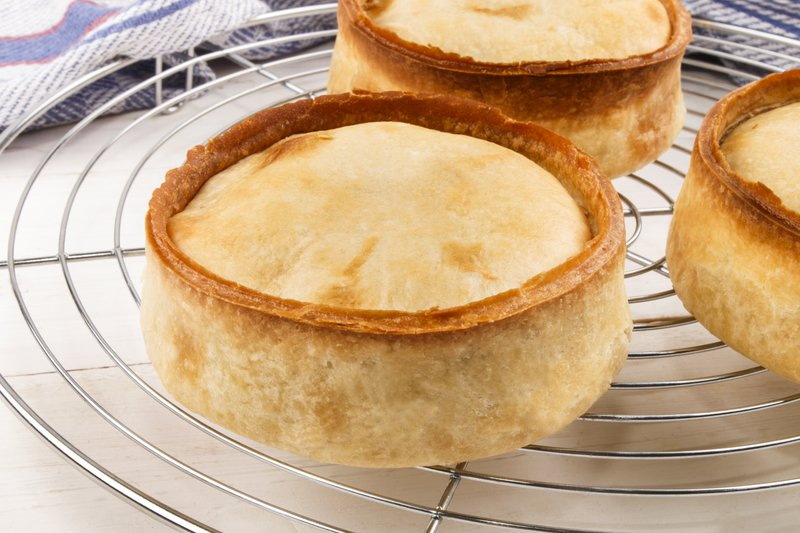 Scotch Pies on a cooling rack