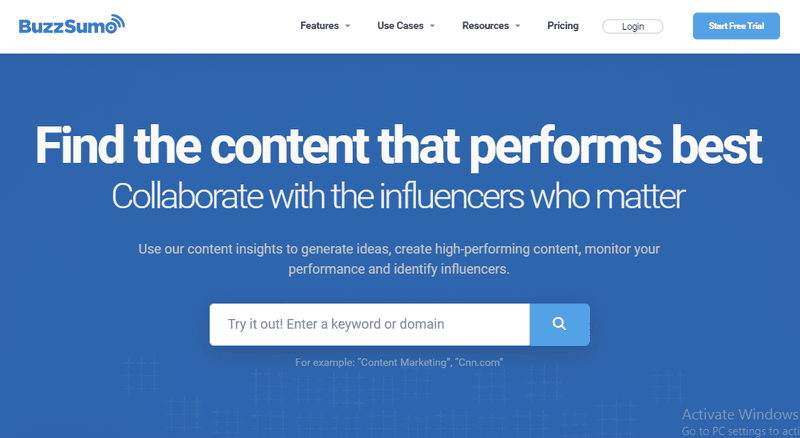 BuzzSumo marketing tool