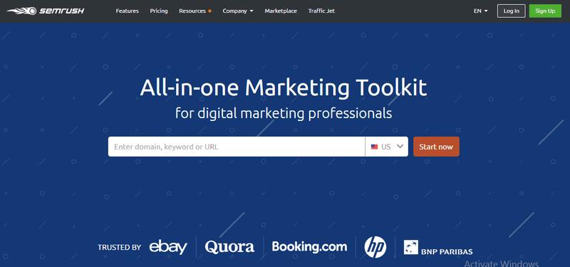 SEM Rush marketing tool