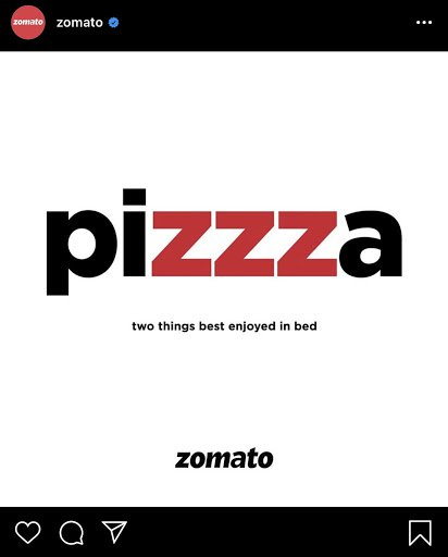 Zomato keeps it simple in this content marketing example