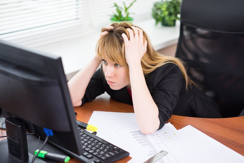 professional frustrated with work