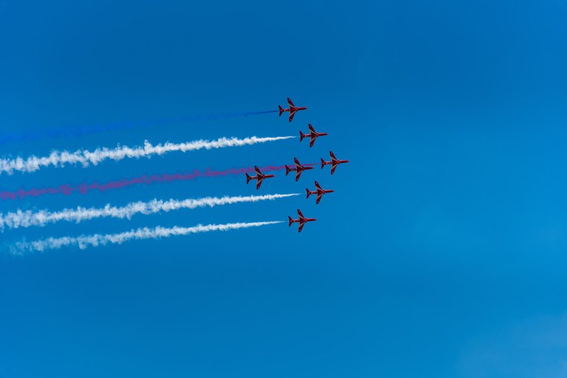 Red arrows display before the British Grand Prix at Silversone 2018.