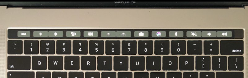 Close up of MacBook Pro keyboard