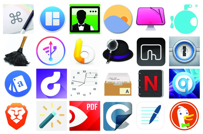 24 icons of Mac productivity apps