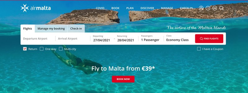 Air Malta Affiliate programs