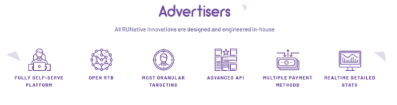 RUNative Review Advertisers