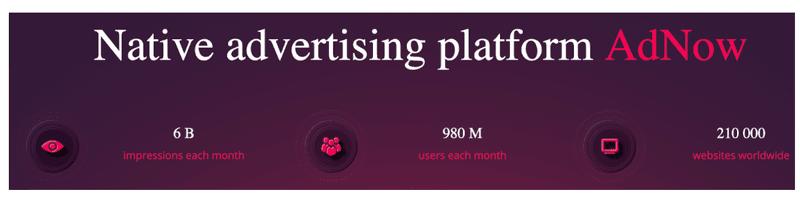 AdNow native advertising platform reach