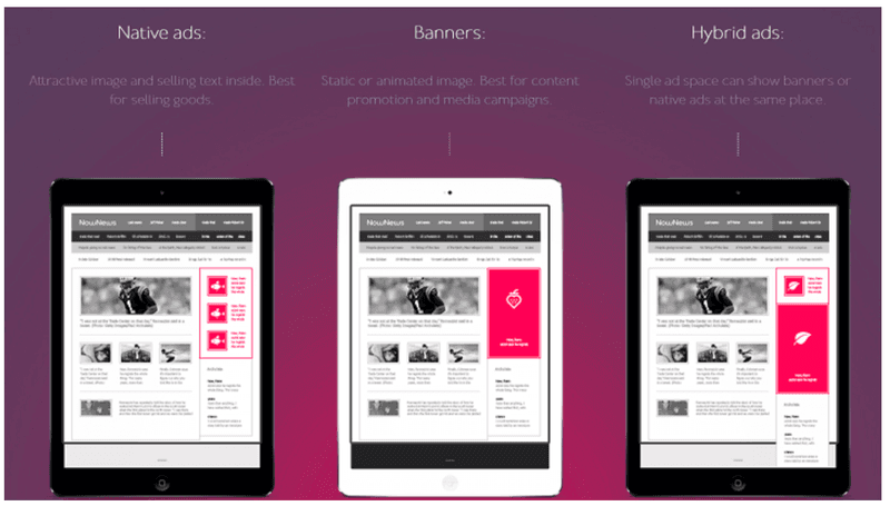 AdNow Native Ads, Banners and  Hybrid Ads
