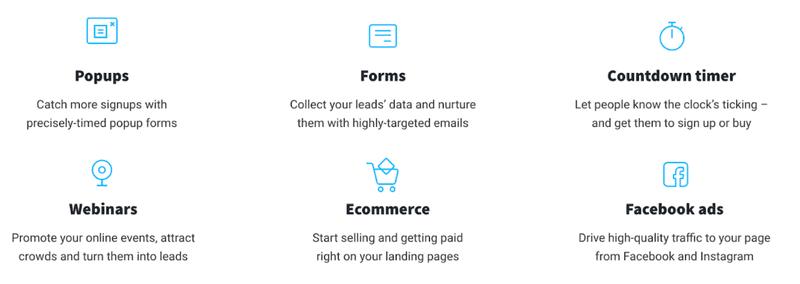 GetResponse: landing page builder
