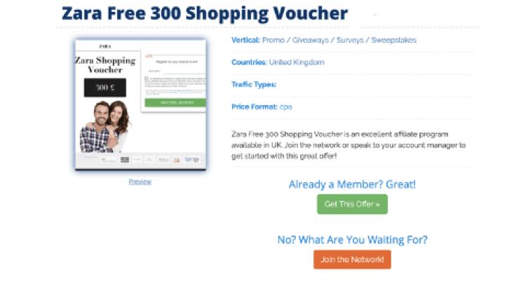Zara Free 300 Shopping Voucher