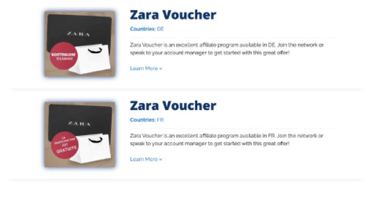 Zara Vouchers