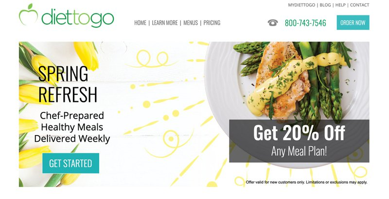 Diet to go meal food affiliate program