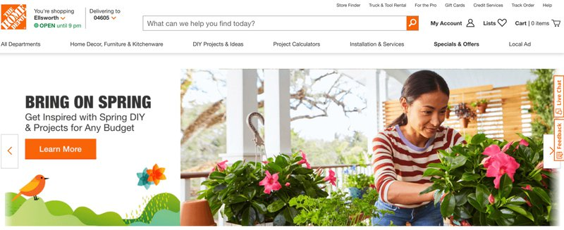 home depot gardening affiliate program