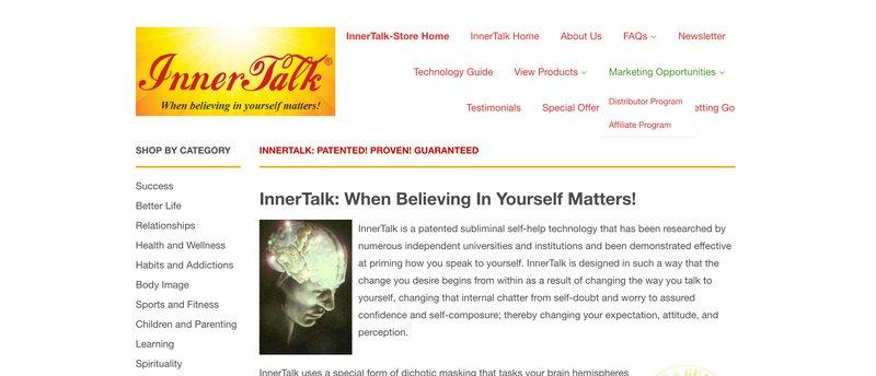 inner talk affiliate program wellness