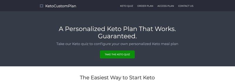 Keto Custom Plan Affiliate Program