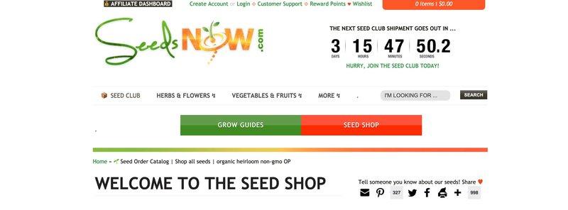 seedsnow best gardening affiliate programs