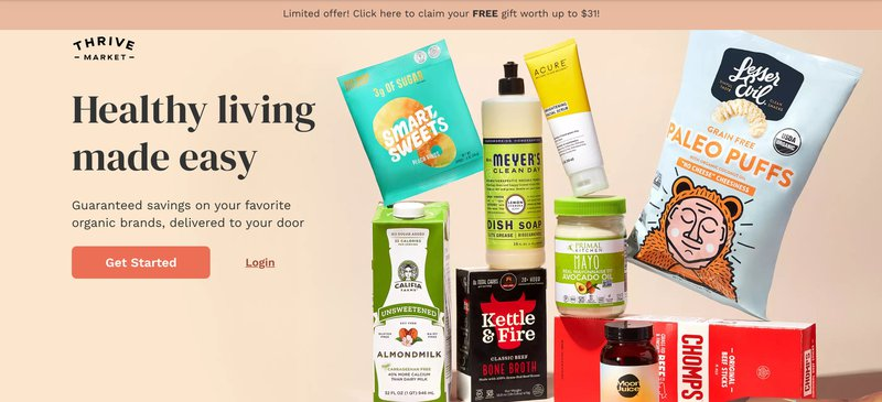 Thrivemarket thrive market grocery app affiliate program