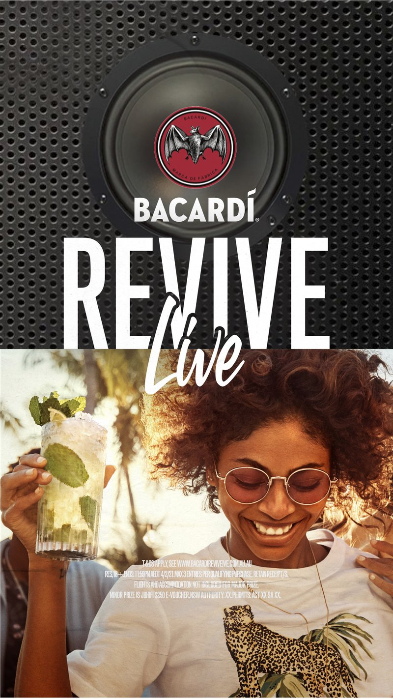 You 20 Friends and a Private Music Festival thanks to Bacardi