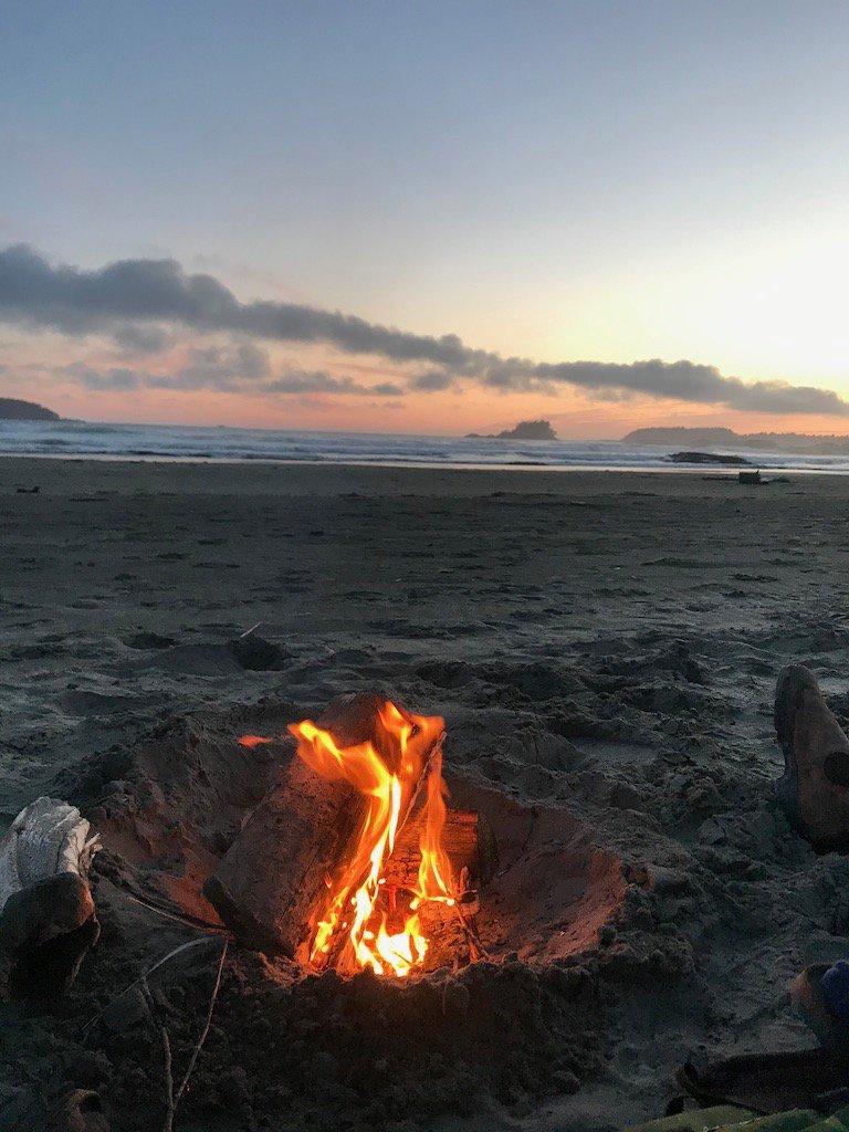Fire on Cox Beach