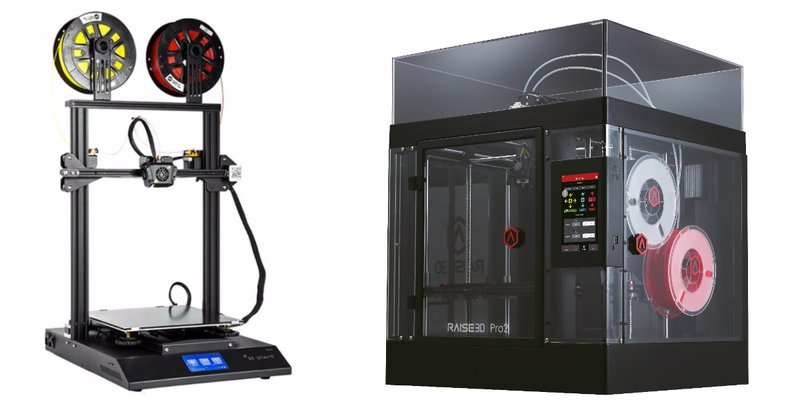 Dual Extruder 3D Printers